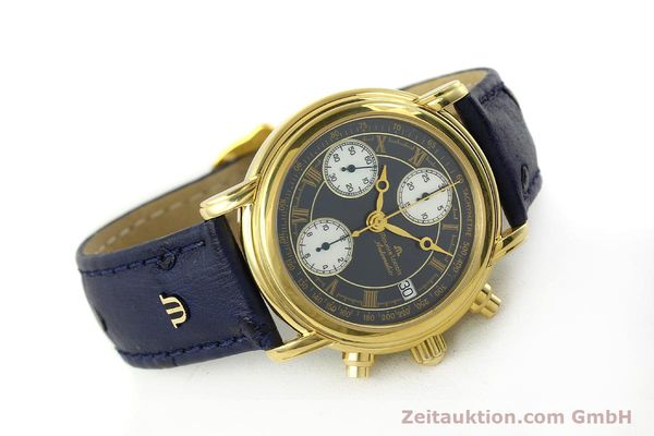 Used luxury watch Maurice Lacroix Croneo chronograph gold-plated automatic Kal. ETA 7750 Ref. 03700  | 150867 03