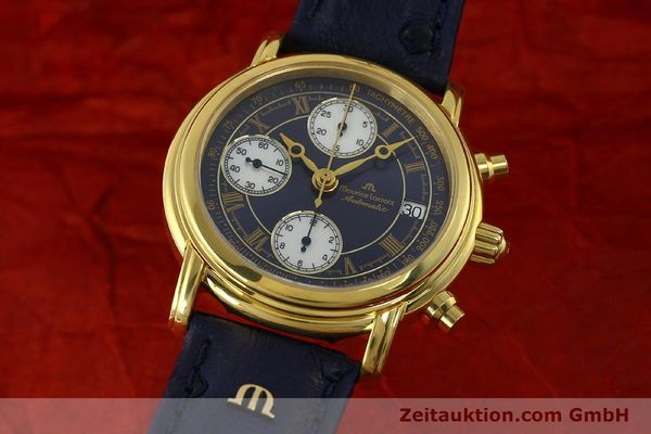 Used luxury watch Maurice Lacroix Croneo chronograph gold-plated automatic Kal. ETA 7750 Ref. 03700  | 150867 04