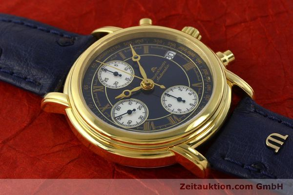 Used luxury watch Maurice Lacroix Croneo chronograph gold-plated automatic Kal. ETA 7750 Ref. 03700  | 150867 14