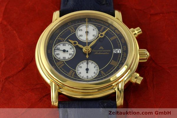 Used luxury watch Maurice Lacroix Croneo chronograph gold-plated automatic Kal. ETA 7750 Ref. 03700  | 150867 15