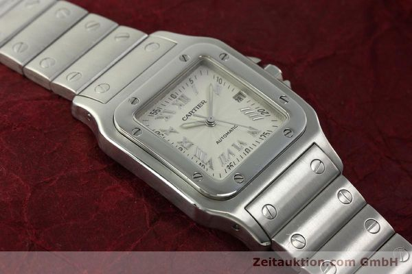 Used luxury watch Cartier Santos steel automatic Kal. 120 ETA 2000-1  | 150876 14