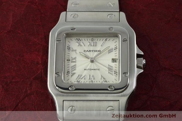 Used luxury watch Cartier Santos steel automatic Kal. 120 ETA 2000-1  | 150876 15