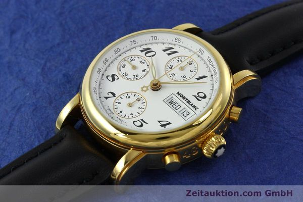 Used luxury watch Montblanc Meisterstück chronograph gold-plated automatic Kal. 4810501 Ref. 7001  | 150881 01
