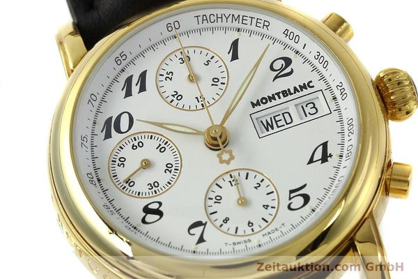 Used luxury watch Montblanc Meisterstück chronograph gold-plated automatic Kal. 4810501 Ref. 7001  | 150881 02
