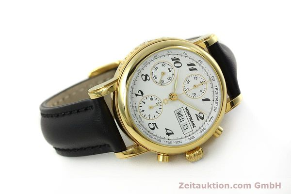 Used luxury watch Montblanc Meisterstück chronograph gold-plated automatic Kal. 4810501 Ref. 7001  | 150881 03