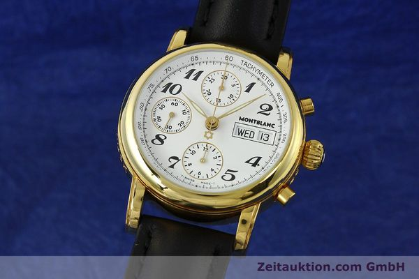 Used luxury watch Montblanc Meisterstück chronograph gold-plated automatic Kal. 4810501 Ref. 7001  | 150881 04