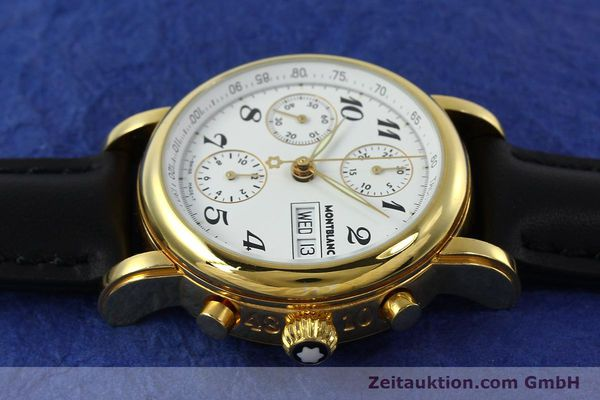 Used luxury watch Montblanc Meisterstück chronograph gold-plated automatic Kal. 4810501 Ref. 7001  | 150881 05