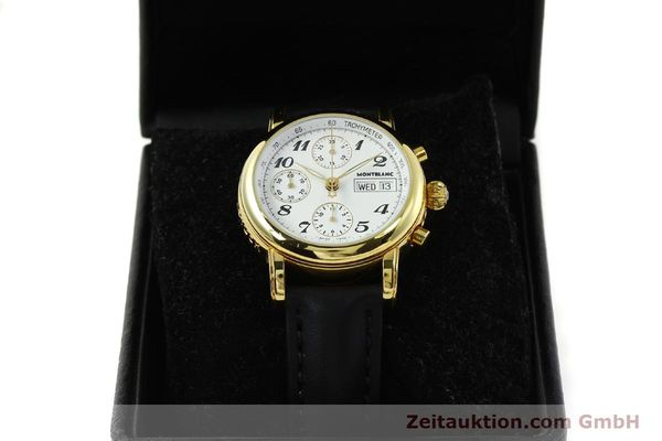 Used luxury watch Montblanc Meisterstück chronograph gold-plated automatic Kal. 4810501 Ref. 7001  | 150881 07