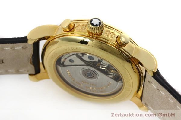 Used luxury watch Montblanc Meisterstück chronograph gold-plated automatic Kal. 4810501 Ref. 7001  | 150881 08