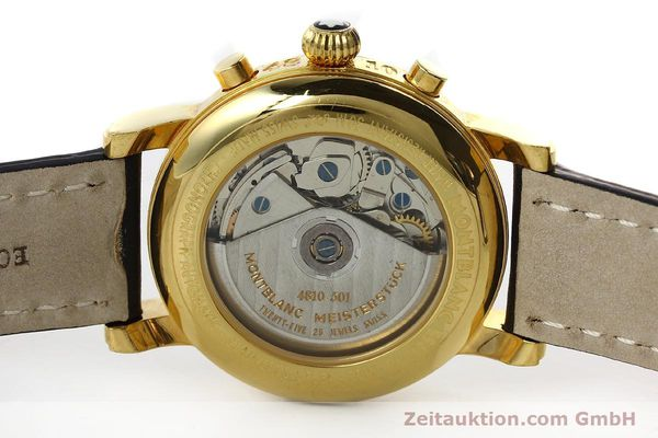 Used luxury watch Montblanc Meisterstück chronograph gold-plated automatic Kal. 4810501 Ref. 7001  | 150881 09