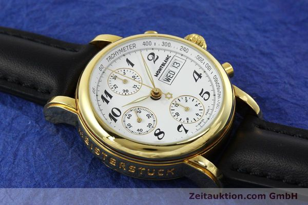 Used luxury watch Montblanc Meisterstück chronograph gold-plated automatic Kal. 4810501 Ref. 7001  | 150881 14