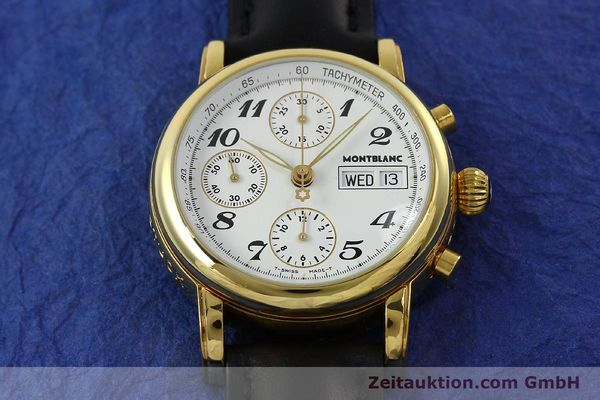 Used luxury watch Montblanc Meisterstück chronograph gold-plated automatic Kal. 4810501 Ref. 7001  | 150881 15