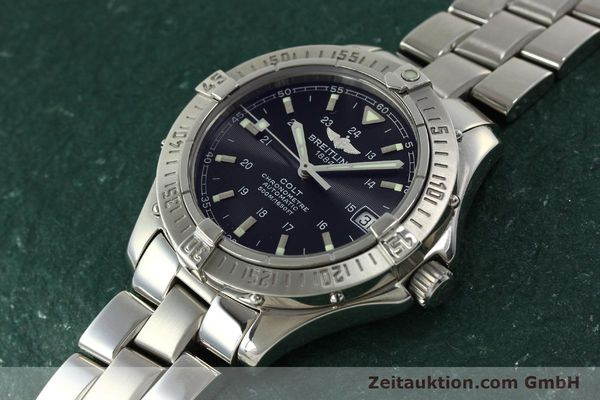 Used luxury watch Breitling Colt steel automatic Kal. B17 ETA 2824-2 Ref. A17350  | 150889 01