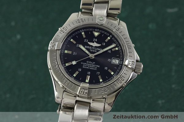 Used luxury watch Breitling Colt steel automatic Kal. B17 ETA 2824-2 Ref. A17350  | 150889 04