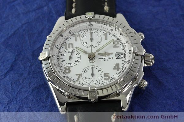 Used luxury watch Breitling Chronomat chronograph steel automatic Kal. B13 ETA 7750 Ref. A13050.1  | 150893 16