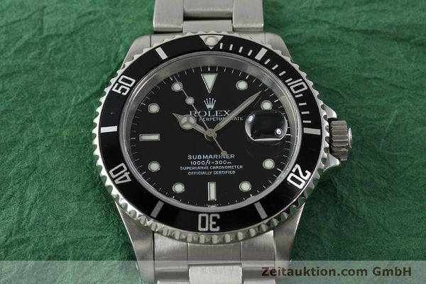 Used luxury watch Rolex Submariner steel automatic Kal. 3135 Ref. 16610  | 150896 16