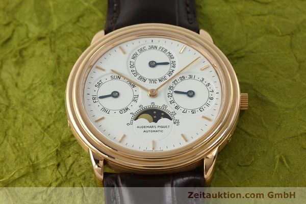 Used luxury watch Audemars Piguet Ewiger Kalender 18 ct gold automatic Kal. 2120/2 Ref. 61218  | 150899 19
