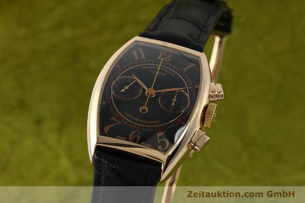 Used luxury watch Franck Muller Casablanca chronograph 18 ct gold manual winding Kal. LWO 1870 Ref. 5850CC  | 150901 04