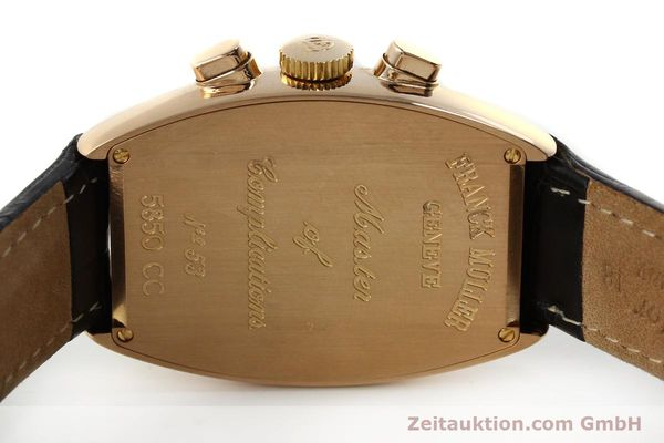 Used luxury watch Franck Muller Casablanca chronograph 18 ct gold manual winding Kal. LWO 1870 Ref. 5850CC  | 150901 09