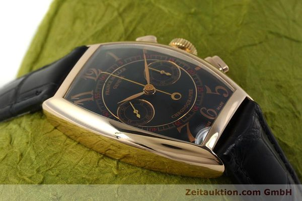 Used luxury watch Franck Muller Casablanca chronograph 18 ct gold manual winding Kal. LWO 1870 Ref. 5850CC  | 150901 16