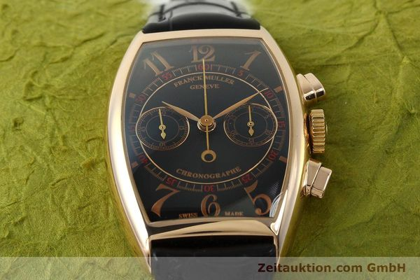 Used luxury watch Franck Muller Casablanca chronograph 18 ct gold manual winding Kal. LWO 1870 Ref. 5850CC  | 150901 17