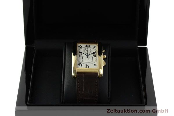 Used luxury watch Cartier Tank chronograph 18 ct gold quartz Kal. 212P  | 150903 07