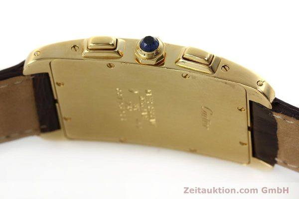 Used luxury watch Cartier Tank chronograph 18 ct gold quartz Kal. 212P  | 150903 08