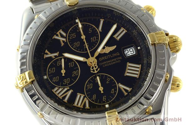 Used luxury watch Breitling Crosswind chronograph steel / gold automatic Kal. B13 ETA 7750 Ref. B13355  | 150905 02