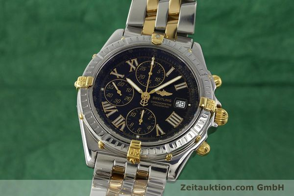 Used luxury watch Breitling Crosswind chronograph steel / gold automatic Kal. B13 ETA 7750 Ref. B13355  | 150905 04