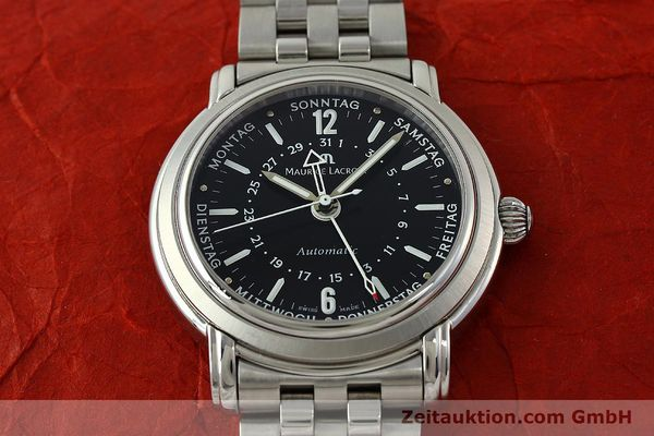 Used luxury watch Maurice Lacroix Masterpiece steel automatic Kal. ETA 2836-2 Ref. AF32200  | 150906 14