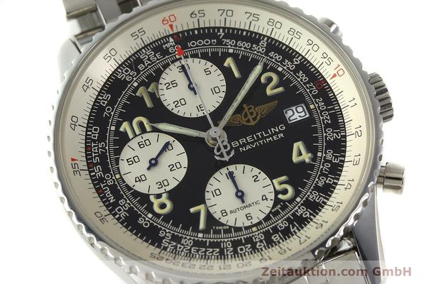 Used luxury watch Breitling Navitimer chronograph steel automatic Kal. B13 ETA 7750 Ref. A13022  | 150909 02