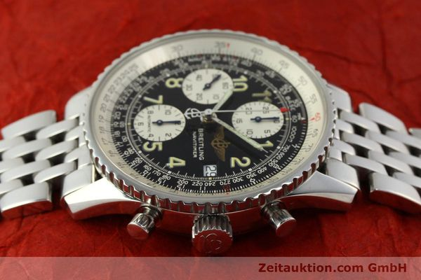 Used luxury watch Breitling Navitimer chronograph steel automatic Kal. B13 ETA 7750 Ref. A13022  | 150909 05
