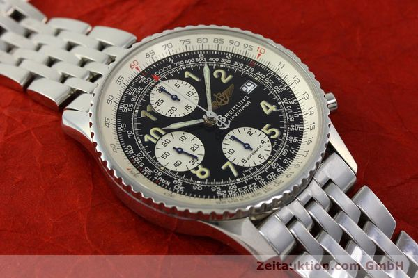 Used luxury watch Breitling Navitimer chronograph steel automatic Kal. B13 ETA 7750 Ref. A13022  | 150909 14