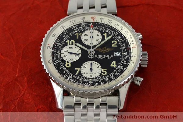 Used luxury watch Breitling Navitimer chronograph steel automatic Kal. B13 ETA 7750 Ref. A13022  | 150909 15