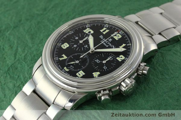 Used luxury watch Blancpain Leman chronograph steel automatic Kal. F185  | 150912 01