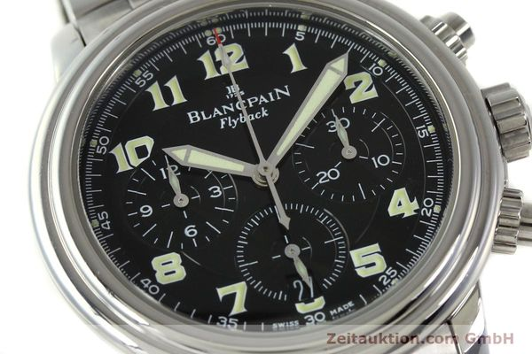 Used luxury watch Blancpain Leman chronograph steel automatic Kal. F185  | 150912 02
