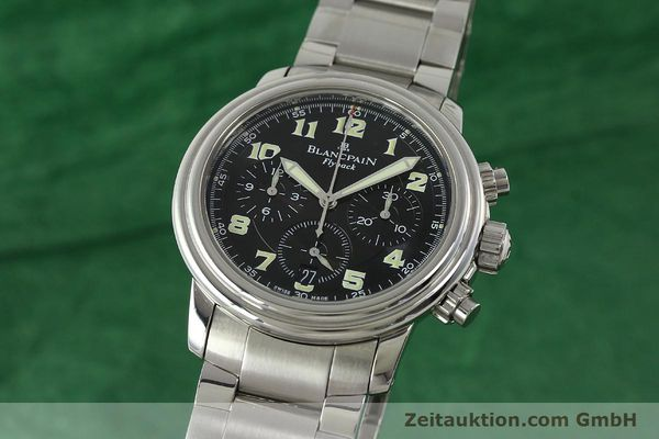 Used luxury watch Blancpain Leman chronograph steel automatic Kal. F185  | 150912 04