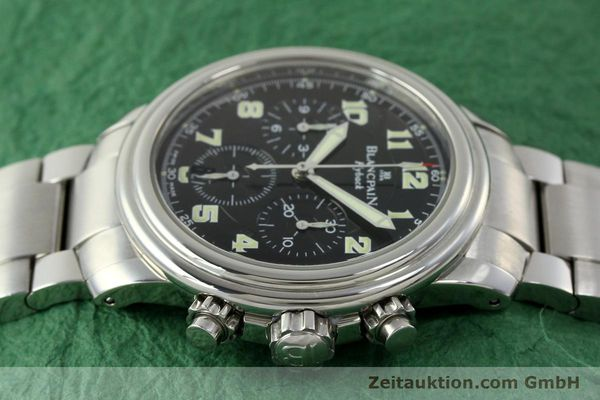 Used luxury watch Blancpain Leman chronograph steel automatic Kal. F185  | 150912 05