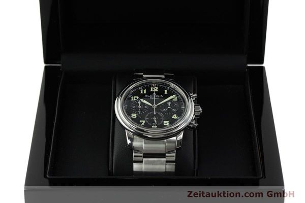 Used luxury watch Blancpain Leman chronograph steel automatic Kal. F185  | 150912 07
