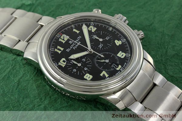 Used luxury watch Blancpain Leman chronograph steel automatic Kal. F185  | 150912 14