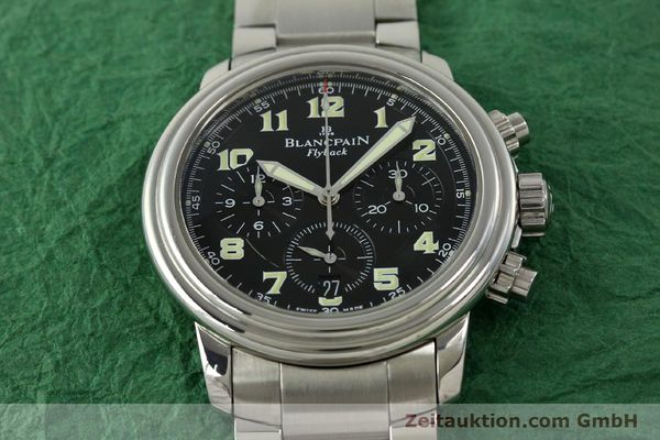 Used luxury watch Blancpain Leman chronograph steel automatic Kal. F185  | 150912 15