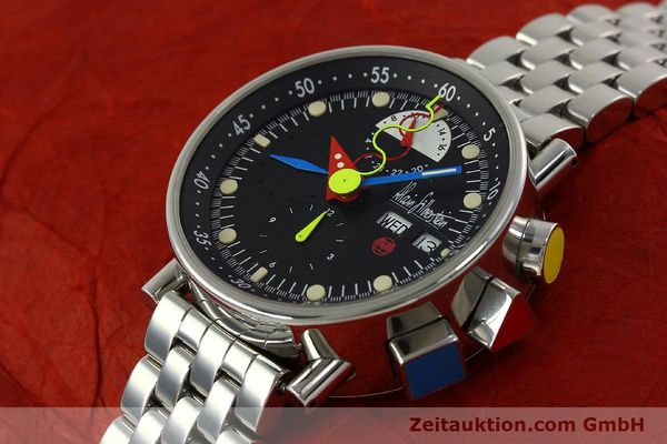 Used luxury watch Alain Silberstein Krono Bauhaus chronograph steel automatic Kal. LWO 5100 LIMITED EDITION | 150920 01