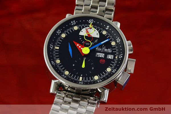 Used luxury watch Alain Silberstein Krono Bauhaus chronograph steel automatic Kal. LWO 5100 LIMITED EDITION | 150920 04