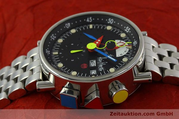 Used luxury watch Alain Silberstein Krono Bauhaus chronograph steel automatic Kal. LWO 5100 LIMITED EDITION | 150920 05