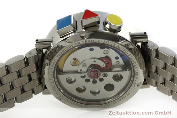Used luxury watch Alain Silberstein Krono Bauhaus chronograph steel automatic Kal. LWO 5100 LIMITED EDITION | 150920 09