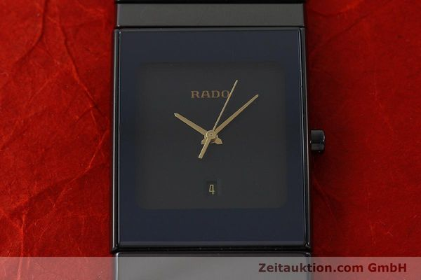 Used luxury watch Rado Diastar Ceramica ceramic / steel quartz Kal. ETA 256.111 Ref. 152.0347.3  | 150939 15