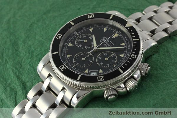 Used luxury watch Zenith Elprimero chronograph steel automatic Kal. 400 Ref. 02-0370-400  | 150959 01
