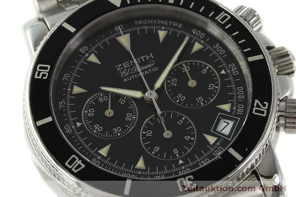 Used luxury watch Zenith Elprimero chronograph steel automatic Kal. 400 Ref. 02-0370-400  | 150959 02