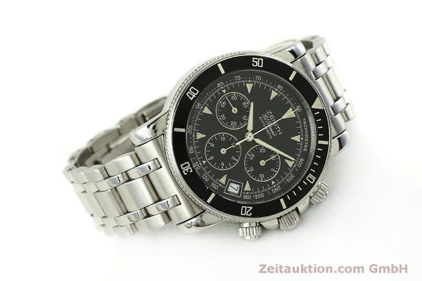 Used luxury watch Zenith Elprimero chronograph steel automatic Kal. 400 Ref. 02-0370-400  | 150959 03