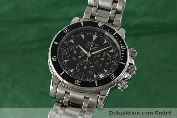 Used luxury watch Zenith Elprimero chronograph steel automatic Kal. 400 Ref. 02-0370-400  | 150959 04